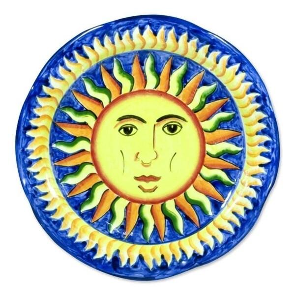 Handmade Ceramic 'Sun of El Salvador' Serving Plate (El Salvador)
