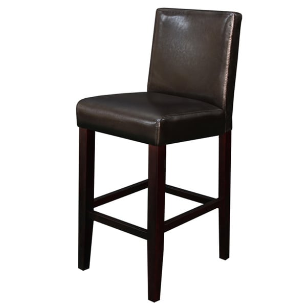 Villa Faux Leather Brown Counter Stool (Set of 2) - Free Shipping Today - Overstock.com - 13811545  sc 1 st  Overstock.com : faux leather bar stools - islam-shia.org