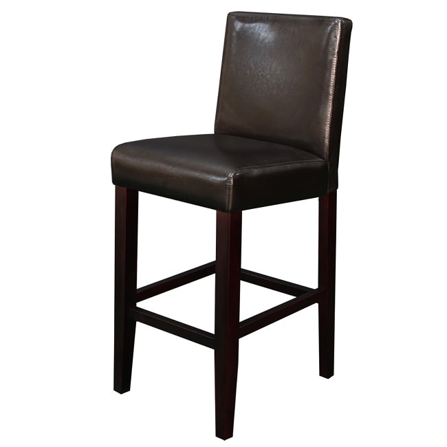 Villa Faux Leather Brown Counter Stool Set Of 2 Free