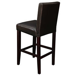 Villa Faux Leather Brown  Counter Stool (Set of 2) - Thumbnail 1
