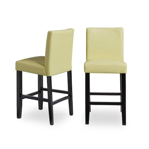 Villa Faux Leather Upholstered Counter Stools (Set of 2)