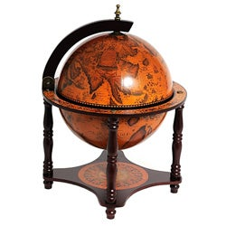 Old Modern Handicrafts Red Globe Bar On 4 Legged Stand