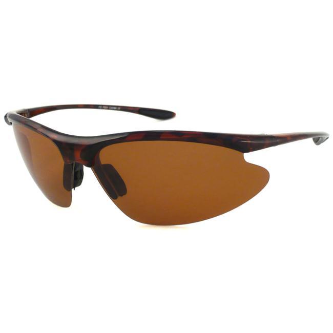 Alta Vision Polarized Sail Men's Tortoise/Polarized Brown Wrap Sunglasses