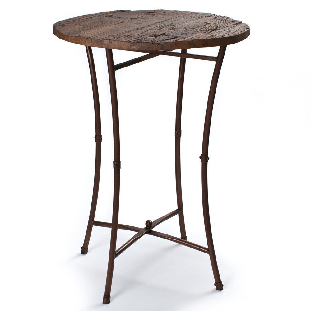 [Handmade] Iron and Wood Bar Table (India) - Free Shipping Today - Overstock.com - 13811809