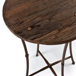 Iron and Wood Bar Table (India)