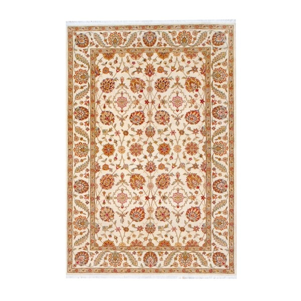 Herat Oriental Indo Hand-knotted Oushak Wool Rug (5'7 x 8'3)