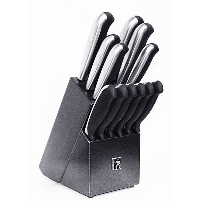 J.A. Henckels International Everedge Plus 13-piece Knife Set with Block
