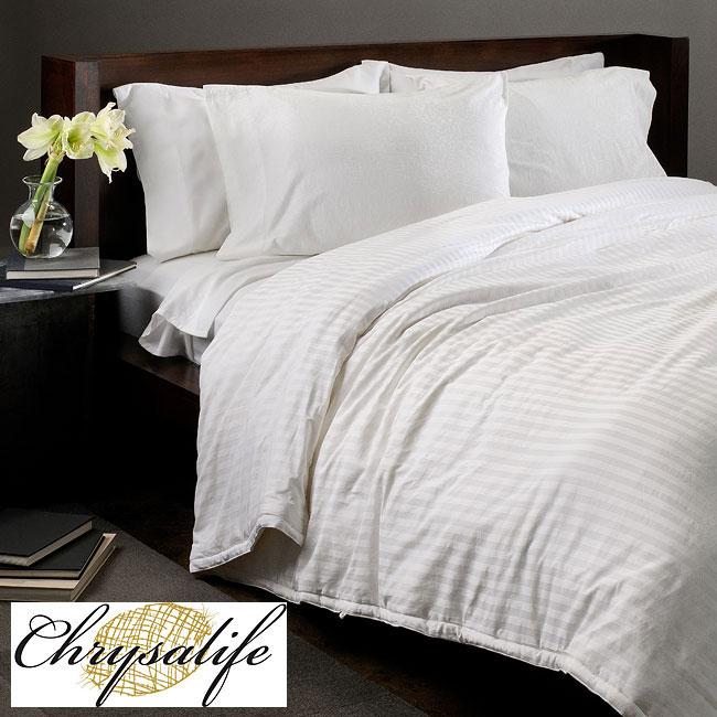 Chrysalife Silk-filled Jacquard Cotton King-size Comforter