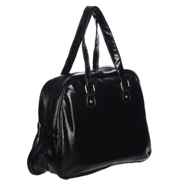 Ellen Tracy Black Metallic Carry On Tote Free Shipping
