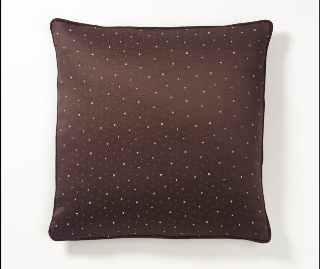Corona Decor Handcrafted European-woven Dots Pillow