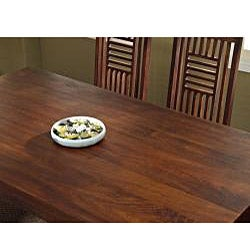 Solid Mango Dining Table with Angled Legs - Thumbnail 1