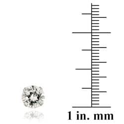 Icz Stonez 14k White Gold 4 1/3ct TGW 7-mm Cubic Zirconia Stud Earrings - Thumbnail 2