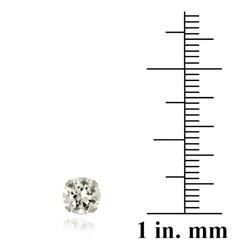 Glitzy Rocks 14k White Gold 2 1/10ct TGW 6-mm White Topaz Stud Earrings