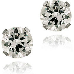 Icz Stonez 14k White Gold 2 7/8ct TGW 6-mm Cubic Zirconia Stud Earrings