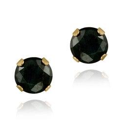 Glitzy Rocks 14k Yellow Gold 1 1/5ct TGW 5-mm Sapphire Stud Earrings