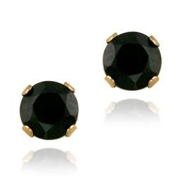 Glitzy Rocks 14k Yellow Gold 3/4ct TGW 4mm Sapphire Stud Earrings