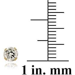 Icz Stonez 14k Yellow Gold 7/8ct TGW 4-mm Cubic Zirconia Stud Earrings