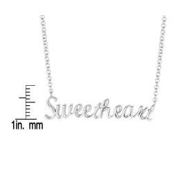 Sterling Silver Expression Sweetheart Necklace - Thumbnail 2