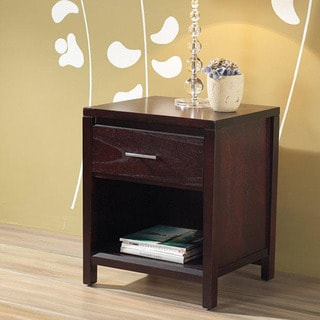 Tapered Leg 1-drawer Nightstand Bar Pull with Power Strip
