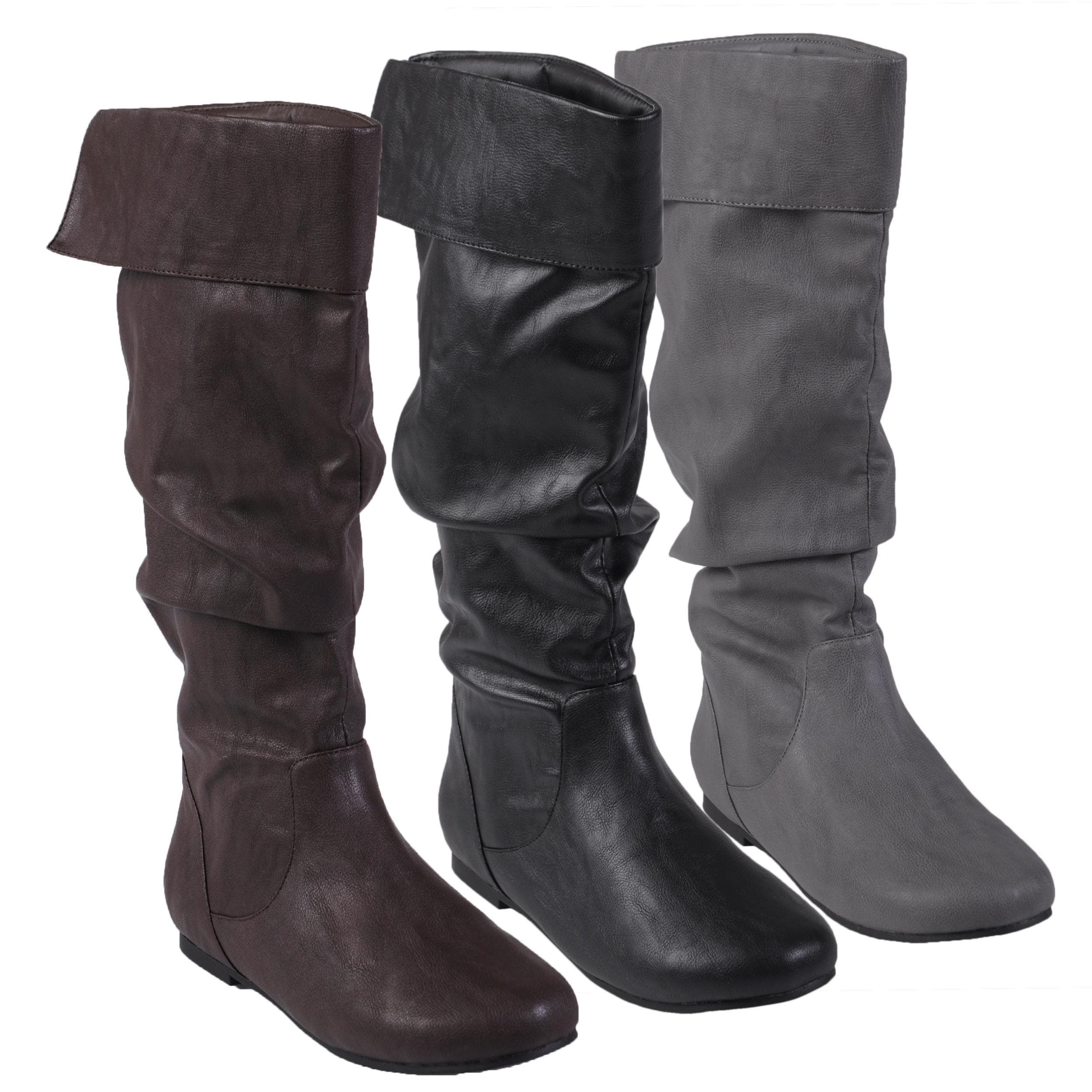 347190859f326 Shop Journee Collection Women's 'Alli-24' Faux Leather Slouchy Boot - Free  Shipping On Orders Over $45 - Overstock - 6153612