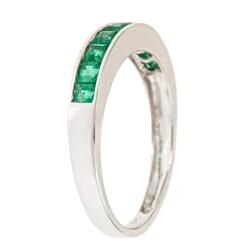 D'Yach 14k White Gold Square-cut Emerald Fashion Ring