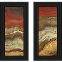 Patricia Pinto 'Tierra Panel  I and II' Framed Print Set