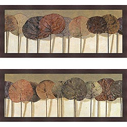 Patricia Pinto 'Leaves ShowI & II' Framed Print Art