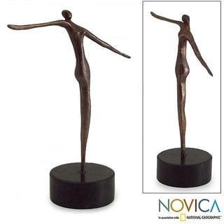 Handmade Bronze 'Vertical' Sculpture (Brazil)