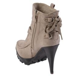 Journee Collection Women's 'MOAB-03' Lug Sole High Heel Boot - Thumbnail 1