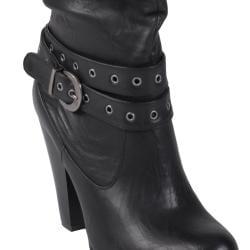 Journee Collection Women's 'ALADDIN-51' Buckle Accent High Heel Boot - Thumbnail 2