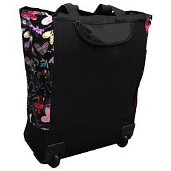 Olympia 20-inch Butterfly Rolling Shopper Tote - Thumbnail 1
