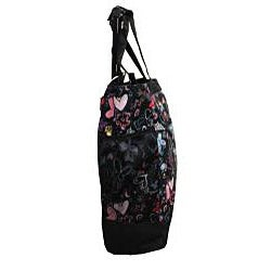 Olympia 20-inch Butterfly Rolling Shopper Tote - Thumbnail 2