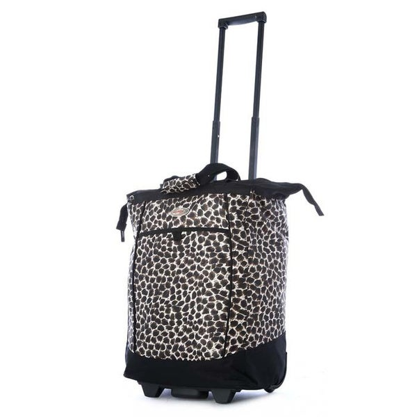 Olympia 20-inch Leopard Rolling Shopper Tote