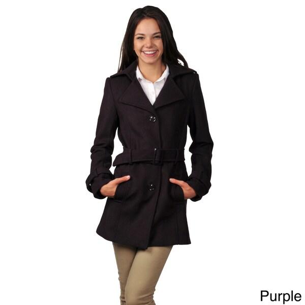 Ci Sono by Journee Juniors Belted Long Coat