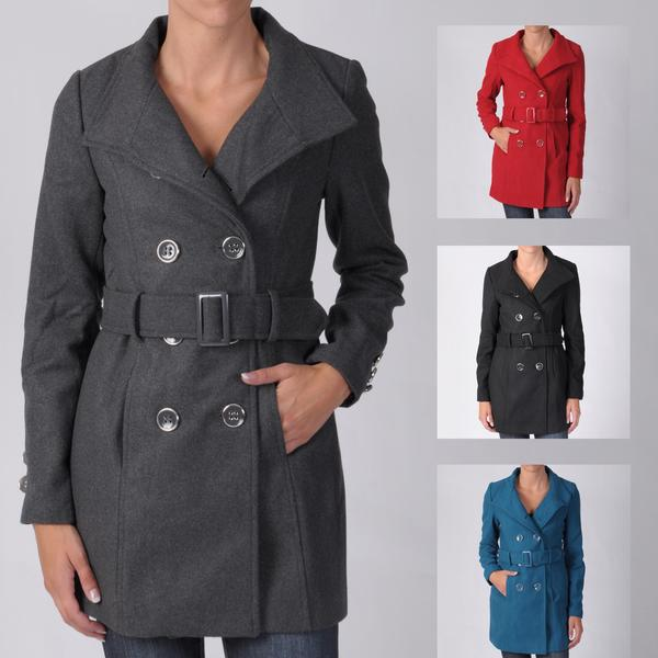 Ci Sono by Journee Junior's Double-breasted Belted Long Coat