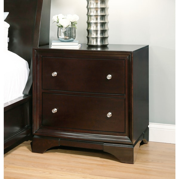 Abbyson Kingston 2-drawer Espresso Nightstand