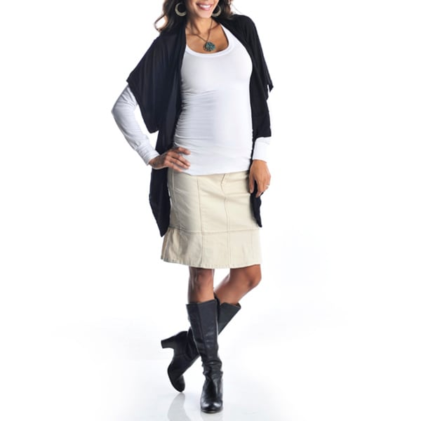 Lilac Clothing Women's Khaki Ruffled Skirt