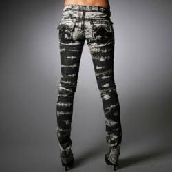 Laguna Beach Jeans Women's Hermosa Beach Black Wash Burn Out Pants - Thumbnail 1