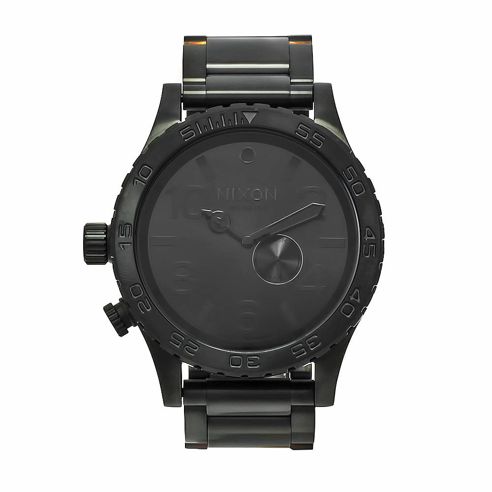 Nixon Men's 51-30 Stainless Steel/Black Watch