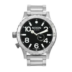 Nixon Men's 51-30 Stainless Steel Watch with Black Dial