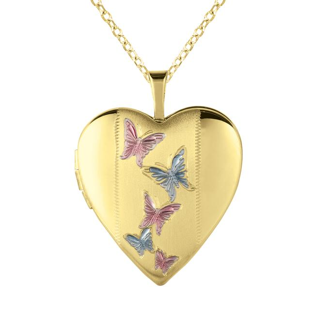 butterfly lockets small heartloksilvergoldbfly with gold silver locket charm heart