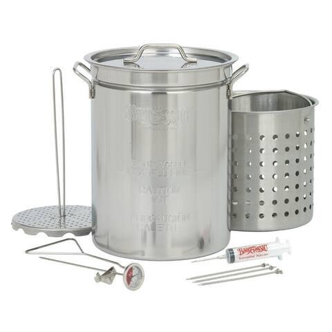 Bayou Classic® 32-qt Stainless Steel Turkey Fryer Pot Set