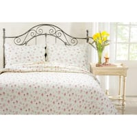 Maison Rouge Gwendolyn Pink Rose Country Floral 3-piece Quilt Set