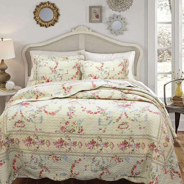 Rose Romance 3-piece Quilt Set