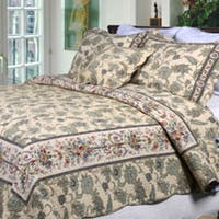 Copper Grove Collinson Neutral Floral Quilt Set