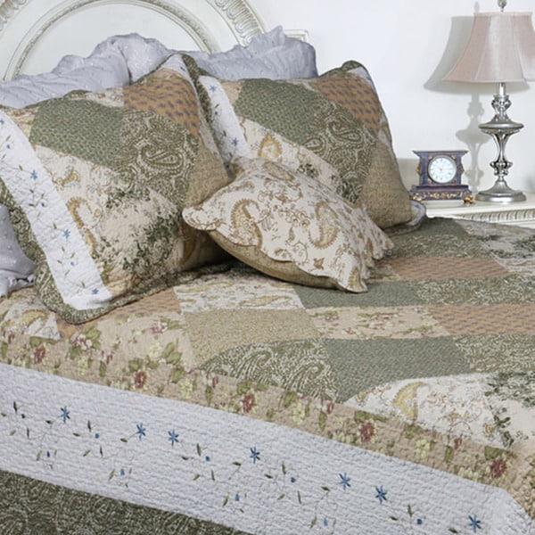Laura Patchwork Twin-size 3-piece Quilt Set