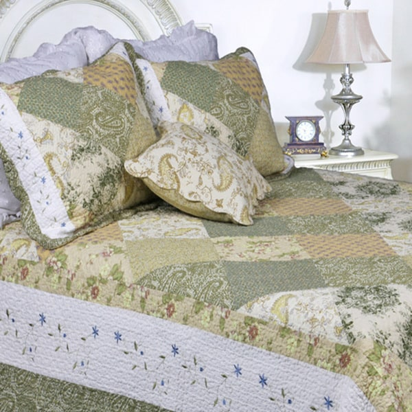 Laura Patchwork 3-piece Quilt Set
