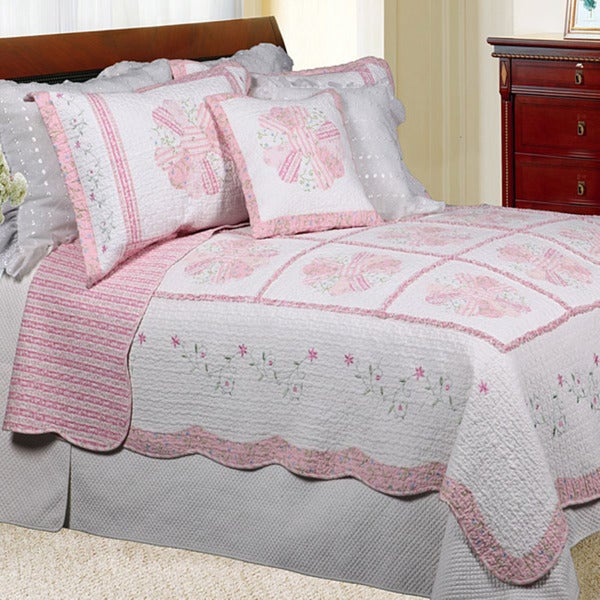 Daisy Field King-size Quilt Set