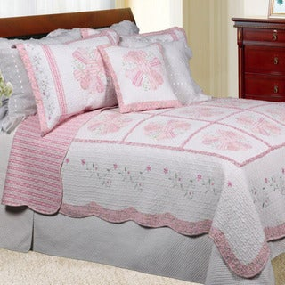Daisy Field Full/ Queen-size Quilt Set
