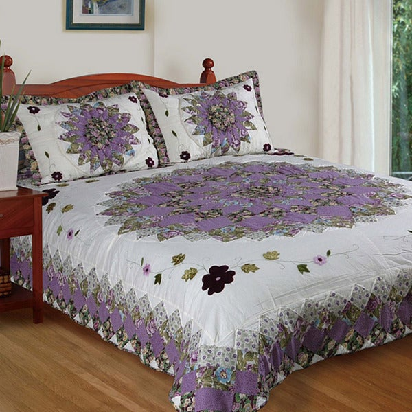 Pansy Field Twin-size 2-piece Quilt Set
